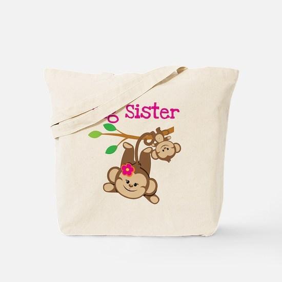 Monkey Big Sis W. Baby Bro Tote Bag