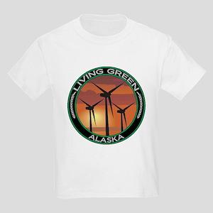 Living Green Alaska Wind Power Kids Light T-Shirt