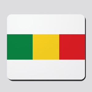 Green, Gold and Red Flag Mousepad