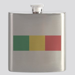 Green, Gold and Red Flag Flask