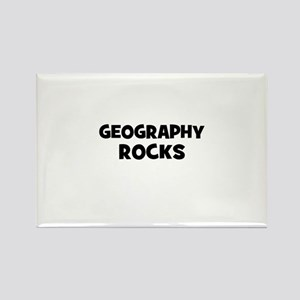 Geography Rocks Rectangle Magnet