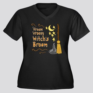Vroom Vroom  Women's Plus Size V-Neck Dark T-Shirt