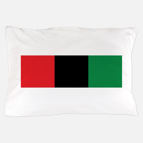 The Red, Black and Green Flag Pillow Case