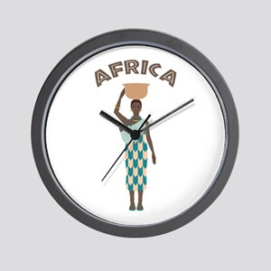 Africa Woman Wall Clock
