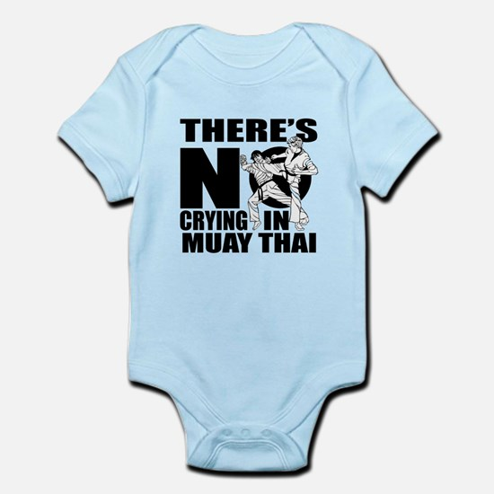 There Is No Crying In Muay Tha Baby Light Bodysuit