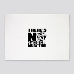 There Is No Crying In Muay Thai 5'x7'Area Rug