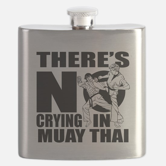 There Is No Crying In Muay Thai Flask