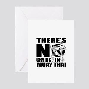 There Is No Crying In Muay Thai Greeting Card