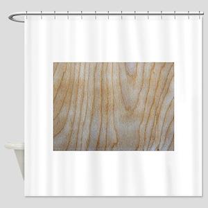 Chic Faux Wood Grain Pattern 4Mitch Shower Curtain