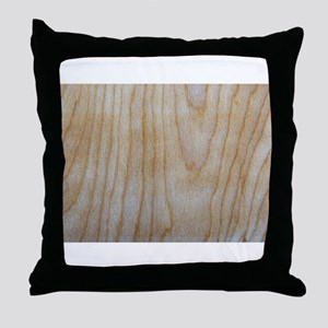 Chic Faux Wood Grain Pattern 4Mitch Throw Pillow