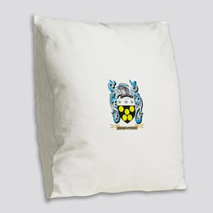 Chardonnay Coat of Arms - Fami Burlap Throw Pillow
