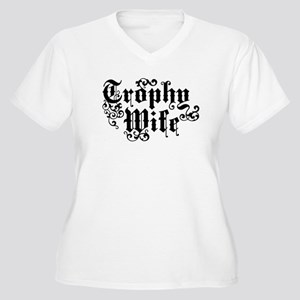 Trophy Wife Women's Plus Size V-Neck T-Shirt