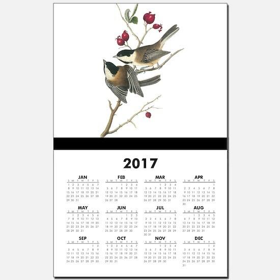 Black-capped Chickadee Calendar Print