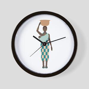 African Woman Wall Clock