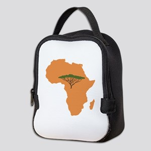 African Continent Neoprene Lunch Bag