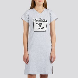 Trick Or Treat Candy Grey Women's Nightshirt