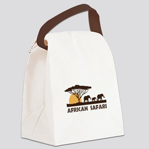 African Safari Canvas Lunch Bag