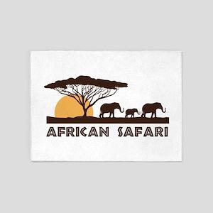 African Safari 5'x7'Area Rug