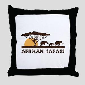 African Safari Throw Pillow