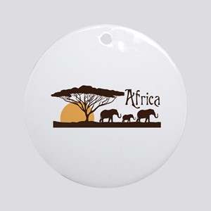 African Sunset Round Ornament
