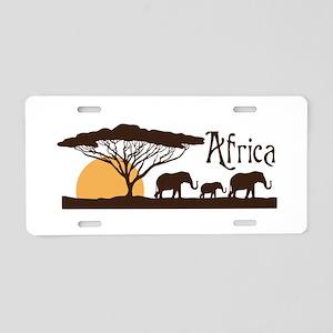 African Sunset Aluminum License Plate