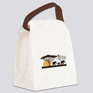 African Sunset Canvas Lunch Bag
