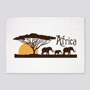 African Sunset 5'x7'Area Rug