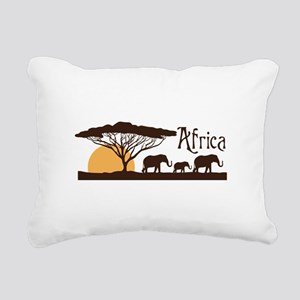 African Sunset Rectangular Canvas Pillow