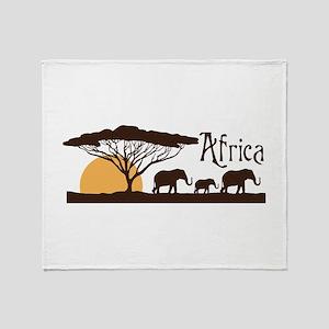 African Sunset Throw Blanket