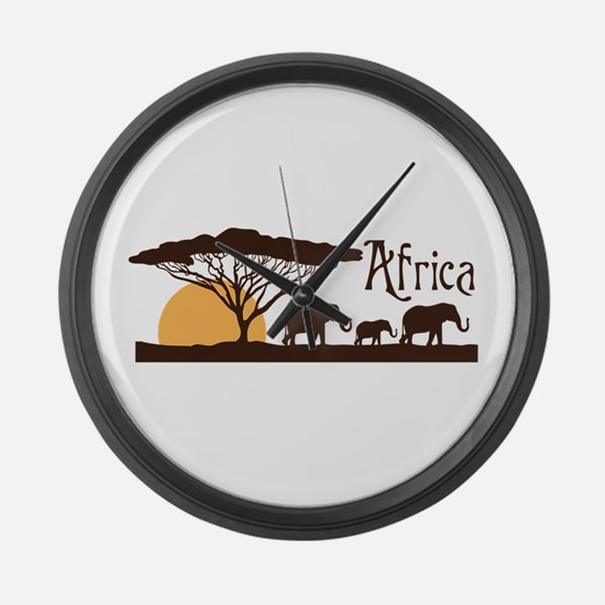 African Sunset Large Wall Clock