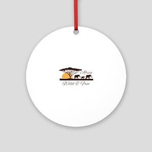 Wild & Free Round Ornament