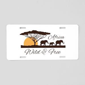 Wild & Free Aluminum License Plate