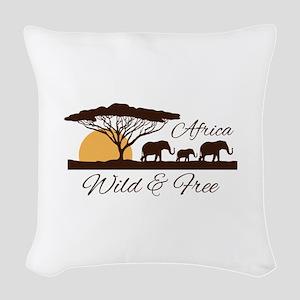 Wild & Free Woven Throw Pillow