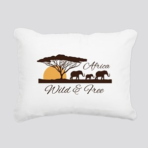 Wild & Free Rectangular Canvas Pillow