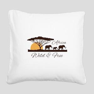 Wild & Free Square Canvas Pillow