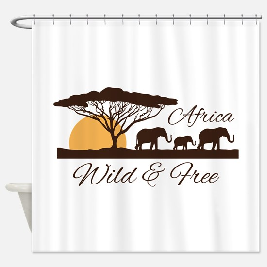 Wild & Free Shower Curtain