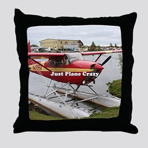 Just plane crazy: float plane 22 Throw Pillow