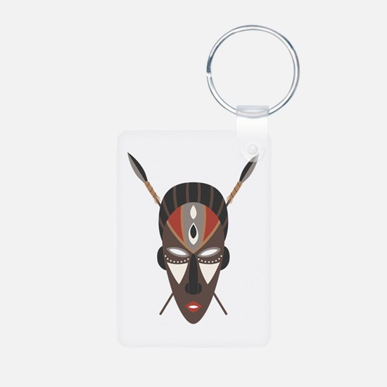 African Tribal Mask Keychains