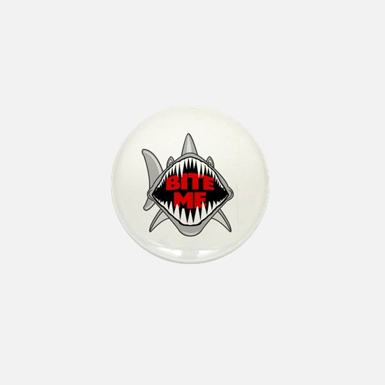 Bite Me Shark Mini Button