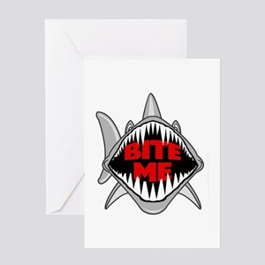 Bite Me Shark Greeting Card