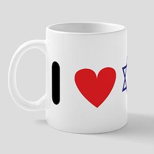 i heart star of david Mug