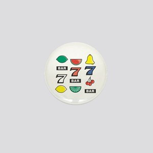 777 Cherries, Bars, & Bells Mini Button