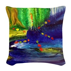 Shamanic Journey Painting Woven Throw Pillow