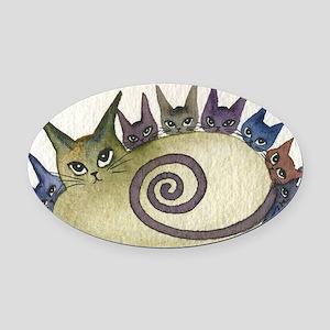 Missouri Stray Cats Oval Car Magnet