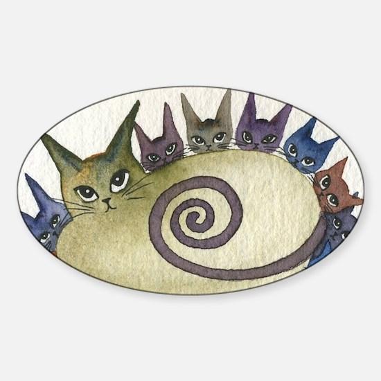 Missouri Stray Cats Sticker (Oval)