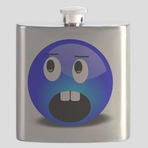 Blue Bucktooth Flask