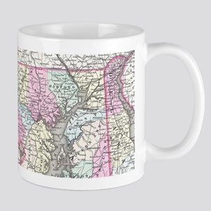 Vintage Map of Maryland (1855) Mugs