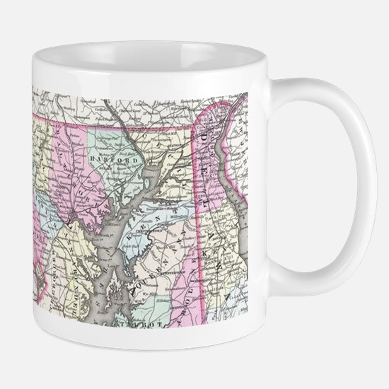 Vintage Map of Maryland (1855) Mugs