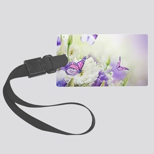 Flowers and Butterflies Luggage Tag