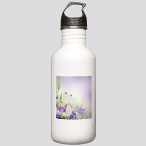 Flowers and Butterflies Water Bottle